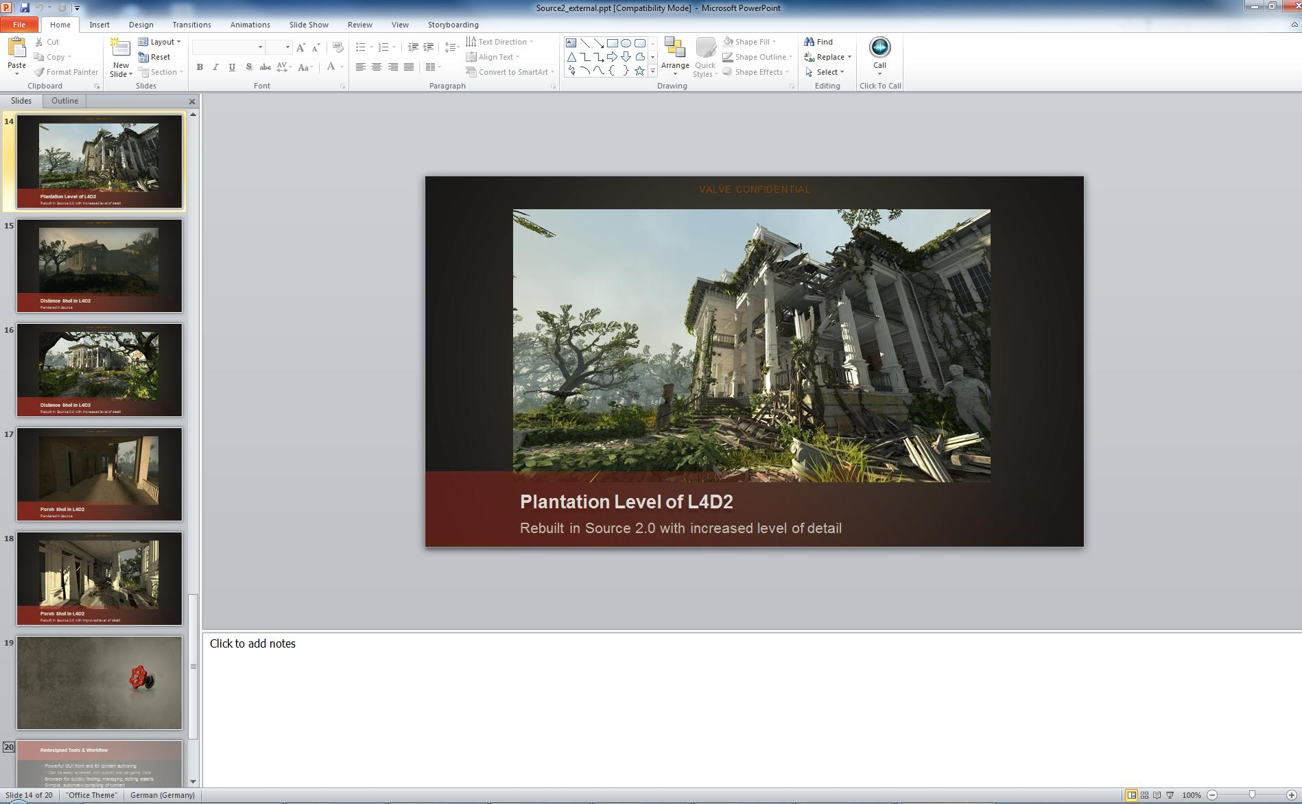 Source2 Presentation - Plantation Level in L4D2